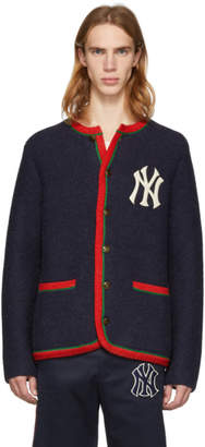 Gucci Navy NY Yankees Edition Cardigan