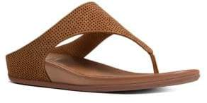 FitFlop Banda TM Perforated Nubuck Thong Sandals