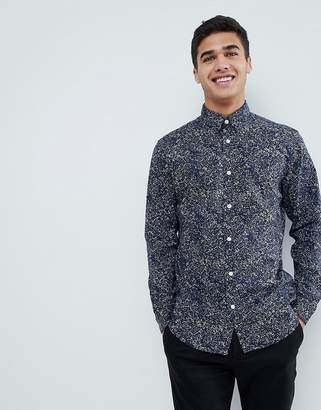 Selected Shirt With All Over Print In Slim Fit