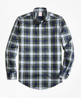 Brooks Brothers Non-Iron Madison Fit Dress Gordon Tartan Sport Shirt