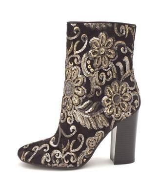 GUESS Lovebugi Block-Heel Booties, Black Multi, 8 US
