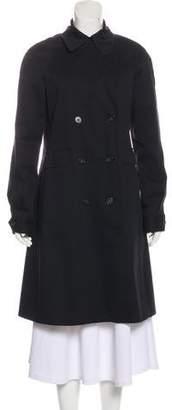 Theory Long Sleeve Knee-Length Trench Coat
