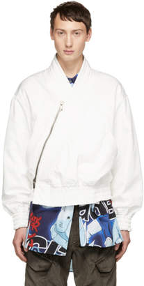 D.gnak By Kang.d White Diagonal Jacket