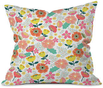 Deny Designs Hello Sayang Day Wild Flowers Throw Pillow