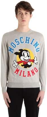 Moschino Bimbo Wool Knit Jacquard Sweater