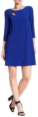 TASH + SOPHIE 3/4 Sleeve Keyhole Dress