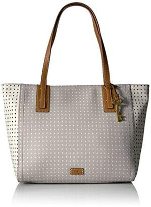 Fossil Emma Tote-Grey/White $128 thestylecure.com