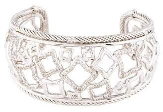 David Yurman Diamond Quatrefoil Wide Cuff