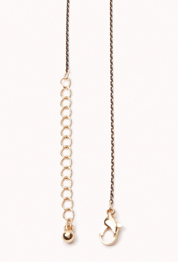 Forever 21 Cross Charm Chain Necklace