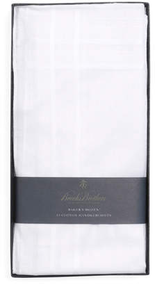 Brooks Brothers Pure Cotton Handkerchiefs - 13pk