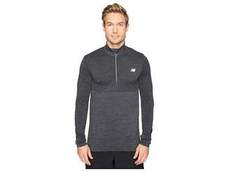 New Balance M4M Seamless Quarter Zip Top Men's Long Sleeve Pullover