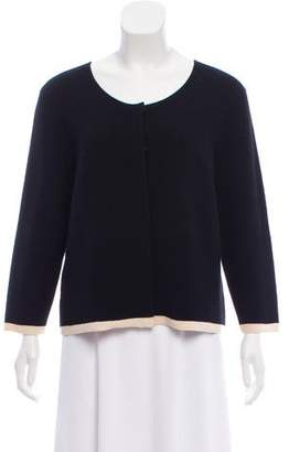 Narciso Rodriguez Wool Rib Knit Cardigan