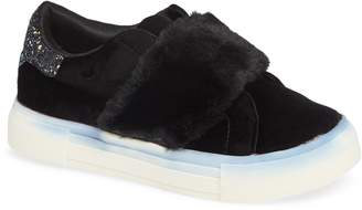 Dolce Vita Caisi Faux Fur Glitter Slip-On Sneaker