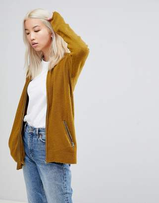 B.young Zip Front Cardigan