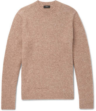 Theory Highland Gaston Slim-Fit Mélange Alpaca-Blend Sweater