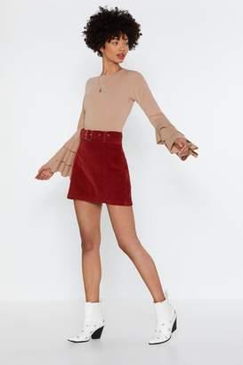 Nasty Gal Brush It Off Corduroy Mini Skirt