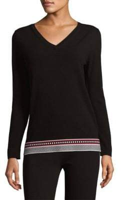 Escada Knit V-Neck Pullover