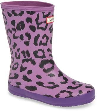 Hunter Leopard Waterproof Rain Boot
