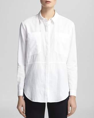 Whistles Shirt - Romy Longline Pocket $160 thestylecure.com