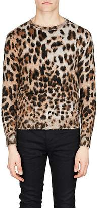 Saint Laurent Men's Leopard Jacquard Sweater