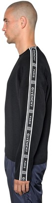 Givenchy Wool Knit Sweater W/ Logo Bands