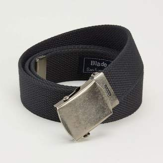Blade + Blue Black Cotton Web Military Belt