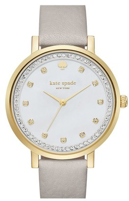 Women's Kate Spade New York 'Monterrey' Leather Strap Watch, 34Mm $225 thestylecure.com