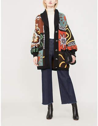 Etro Geometric-pattern wool-blend cardigan