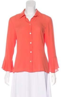 Michael Kors Silk Button-Up Blouse