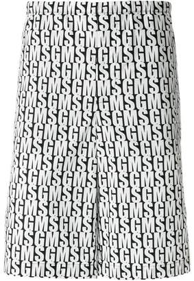 MSGM branded Bermuda shorts