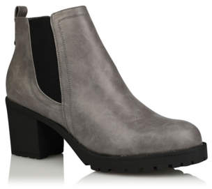 George Grey Faux-Leather Cleat Sole Boots