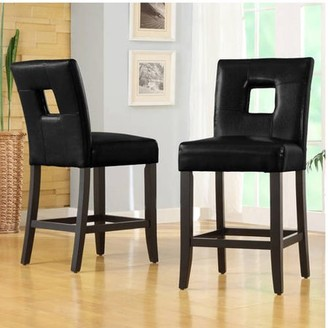 Weston Home Top Line Landen Faux Leather Counter-Height Stool, Set of 2