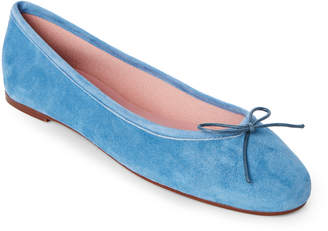 Fly London Gabriella Blue Stefania Suede Ballet Flats