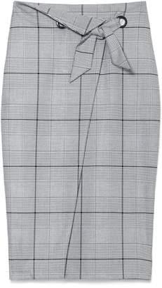 Vince Camuto Windowpane-check Pencil Skirt