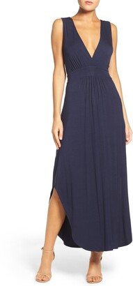 Fraiche by J V-Neck Jersey Maxi Dress