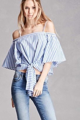 FOREVER 21+ Striped Open-Shoulder Top $35 thestylecure.com