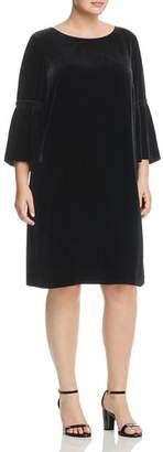 Lafayette 148 New York Plus Roslin Velvet Bell-Sleeve Dress