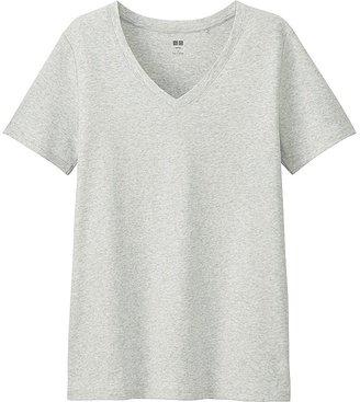 UNIQLO Women's Supima-« Cotton V-Neck T-Shirt $12.90 thestylecure.com