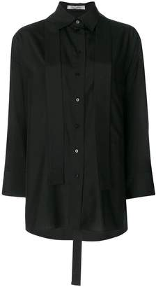 Valentino oversized neck tie shirt