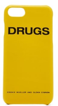 Raf Simons Iphone 7 Leather Case - Womens - Yellow