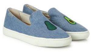 Soludos Avocado Denim Skate Sneakers $89 thestylecure.com