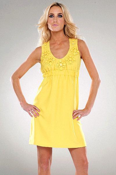 Karta Empire Waist Dress in Yellow