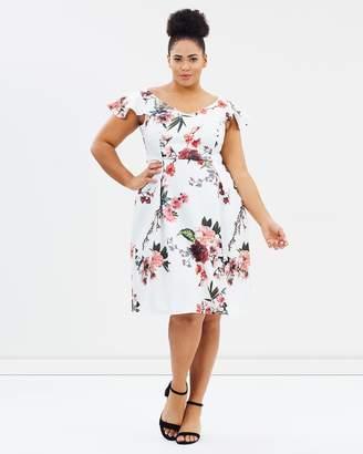 Scuba Floral Dress