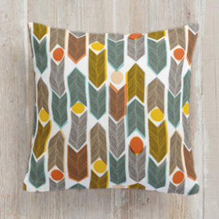 Warm Plains Pattern Self-Launch Square Pillows