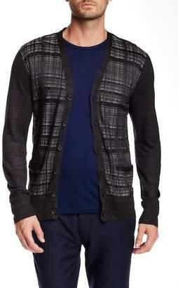 John Varvatos Collection Textured Cardigan