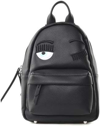 Chiara Ferragni Flirting Eye Faux-leather Backpack