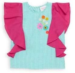 Little Girl's & Girl's Betty Seersucker Striped Cotton Top
