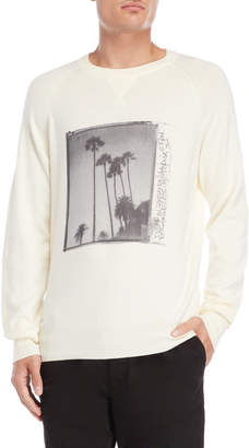 Franklin & Marshall Palm Photo Pullover Sweater