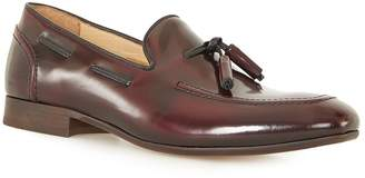 Topman HUDSON'S Burgundy Leather Tassel Loafers