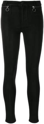 Hudson zip detail skinny jeans